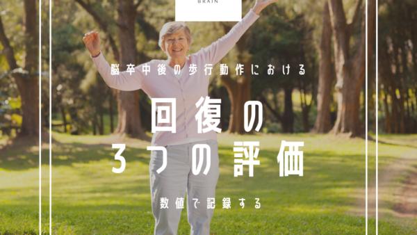 """脳卒中後の歩行動作における """"回復"""" の評価"""