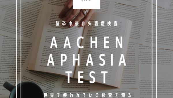 脳卒中の失語症検査:AachenAphasiaTest